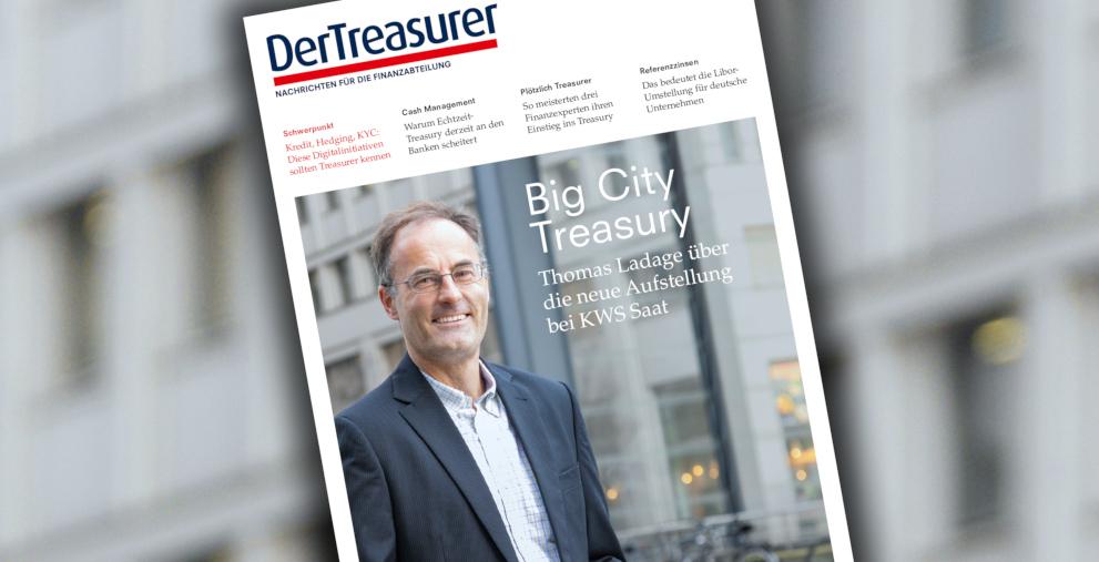 Thomas Ladage zentralisiert das KWS-Saat-Treasury in Berlin.