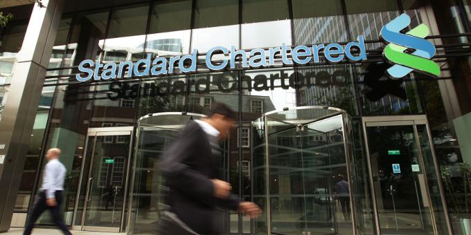 Die britische Bank Standard Chartered will in Frankfurt ihre neue Euro-Zentrale aufbauen.