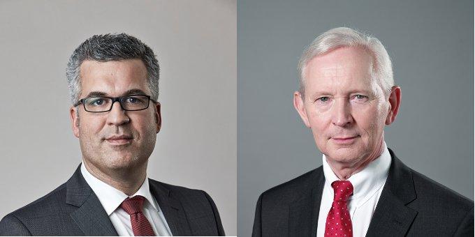 Treasury-Chef Thomas Rogall (links) und CFO Christian Wolfsohn haben nach dem dritten Schuldschein von Biesterfeld noch einige Projekte vor sich.