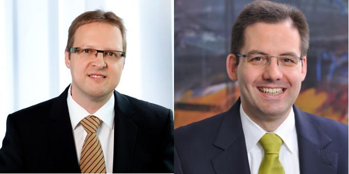 Neuer Treasury-Chef bei SAP: Steffen Diel (links) folgt auf Matthias Heiden