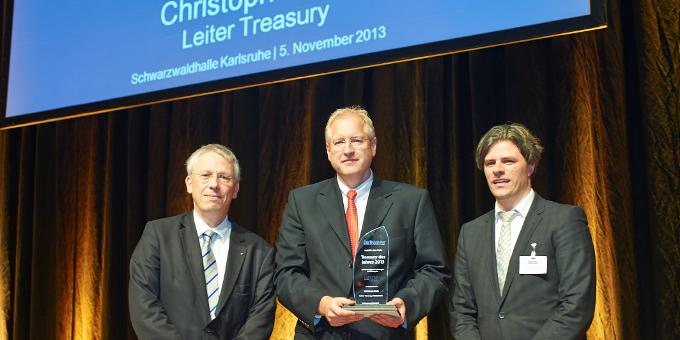 "Lanxess bekommt den Award ""Treasury des Jahres 2013"""