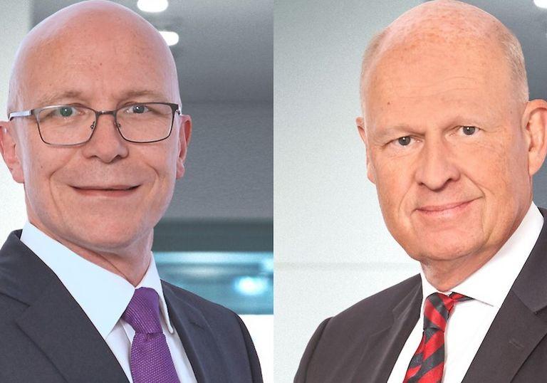 Jürgen Baudisch (links) übernimmt von Johan Andersson den Posten des CEO und Head of Country der SEB in Deutschland.
