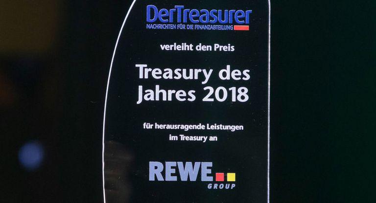 2018 freute sich die Rewe Group über den Preis Treasury des Jahres.