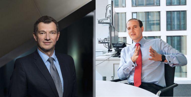Michael Spiegel (links) und Ole Matthiessen erhalten neue Aufgaben bei der Deutschen Bank.