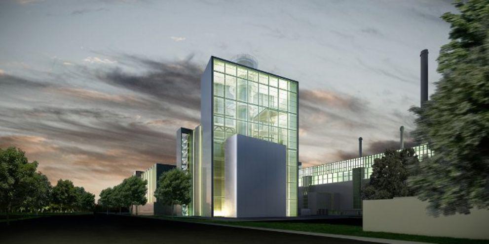 Fassade des Kraftwerks Fortuna. Die Stadtwerke Düsseldorf haben ein neues Finanzierungspaket geschnürt.