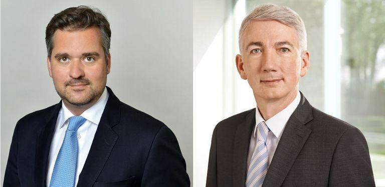 Tim Armbruster (links) folgt Anfang Mai Frank Czichowski als Treasurer der KfW nach.