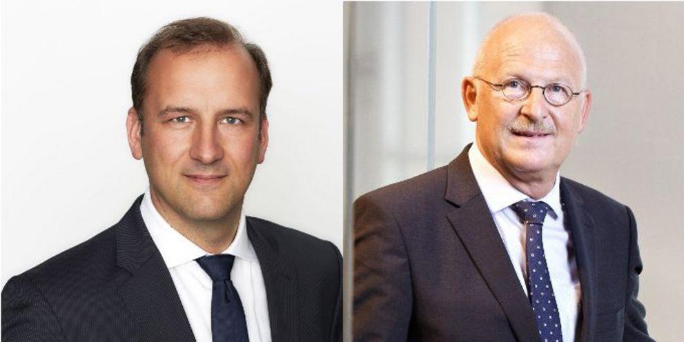 Kai Gloystein (links) folgt Sigurd Dahrendorf (rechts) als Treasury-Chef von Knorr-Bremse nach.