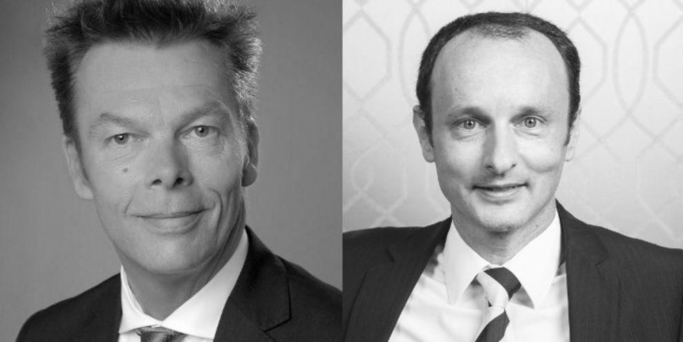 Stefan Lühr (links) und Jörg Konrath stoßen zum deutschen Cash-Management-Team der BNP Paribas.