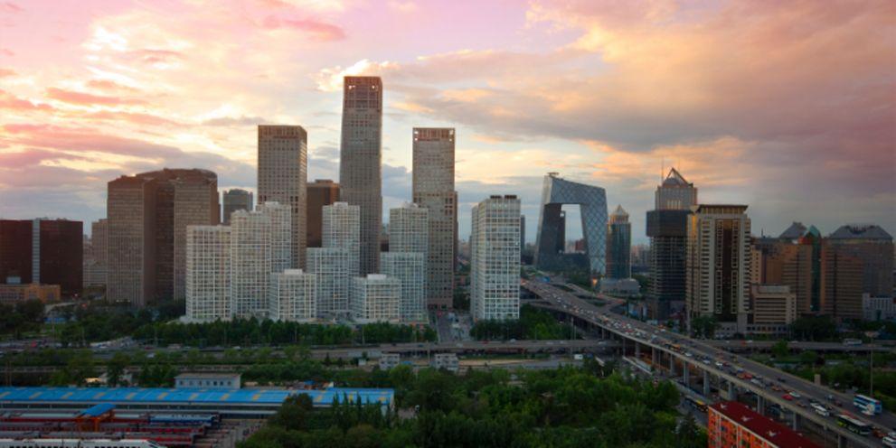 Blick über Peking: Die Zahl der Forderungsausfälle in Asien steigt.