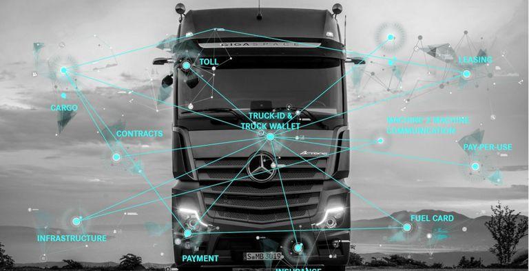Daimler Trucks hat zwischen Maschinen eine voll automatisierte Zahlung durchgeführt.