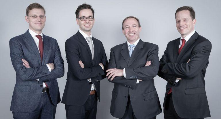 Der ACTA-Vorstand (von links): Lukas Leuprecht (Hofer), Sebastian Kästner (Pochtler Industrieholding), Jan-Martin Nufer (Borealis) und Philipp Schmidt (Semperit)
