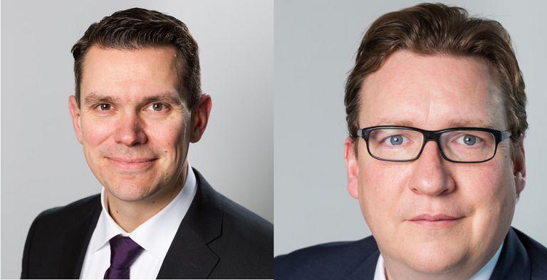 Die HSBC-Experten Fabian Adler und Thomas Lange sehen noch viel Digitalisierungpotential für deutsche Treasury-Abteilungen.