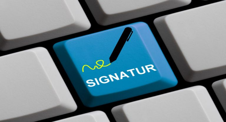 Wie weit sind die Banken bei dem Thema E-Signaturen?