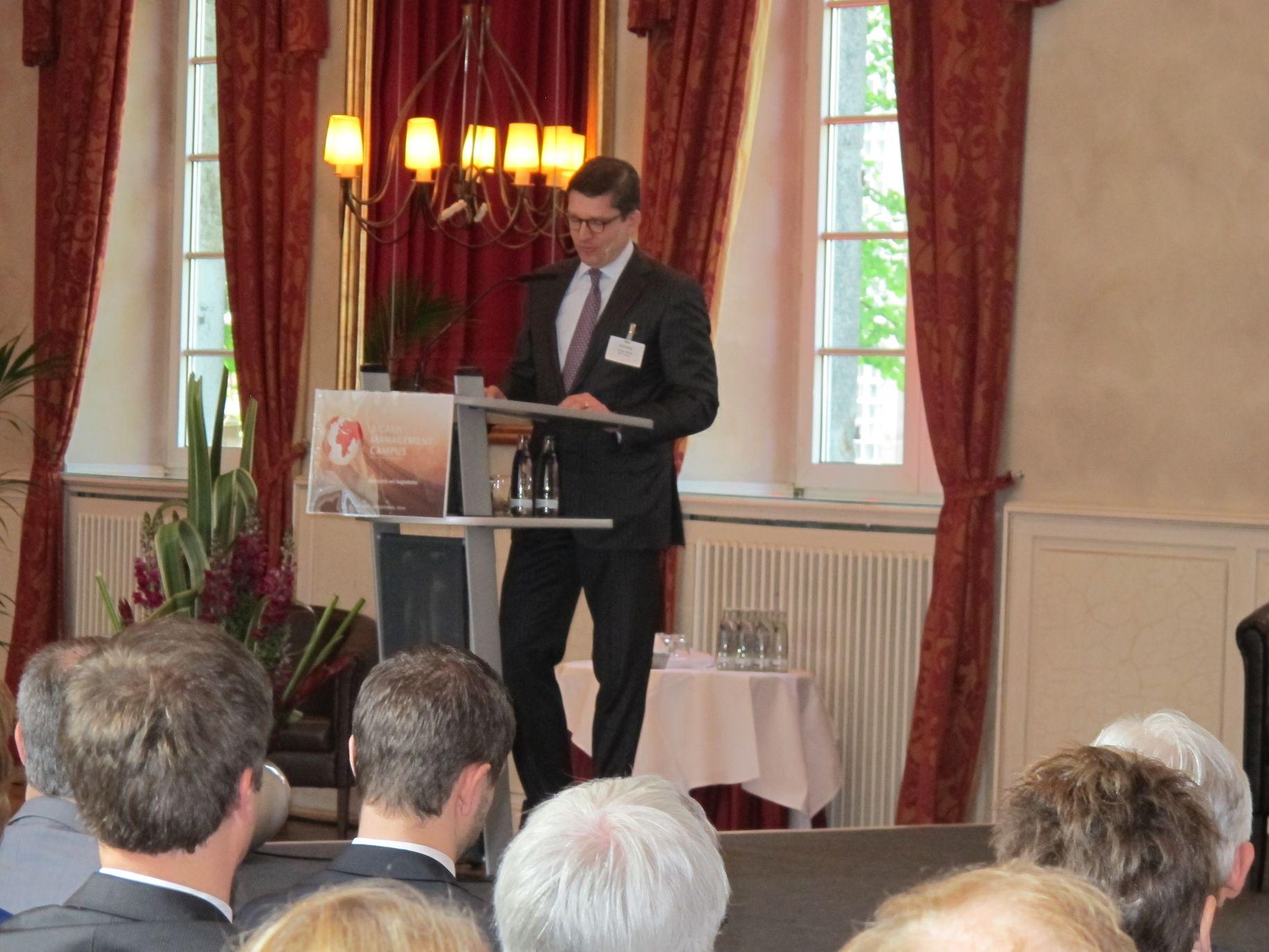Torsten Murke (BNP Paribas) eröffnete den 3. Cash Management Campus.