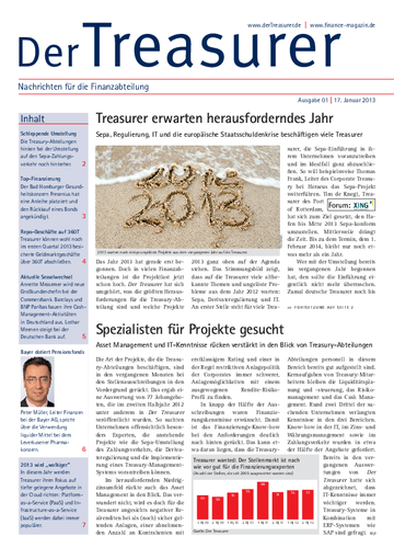 Der Treasurer 01/2013