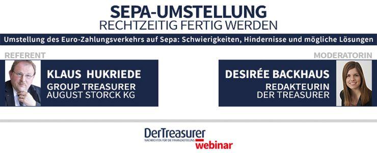 Treasurer Webinar: Sepa-Umstellung - Übersicht