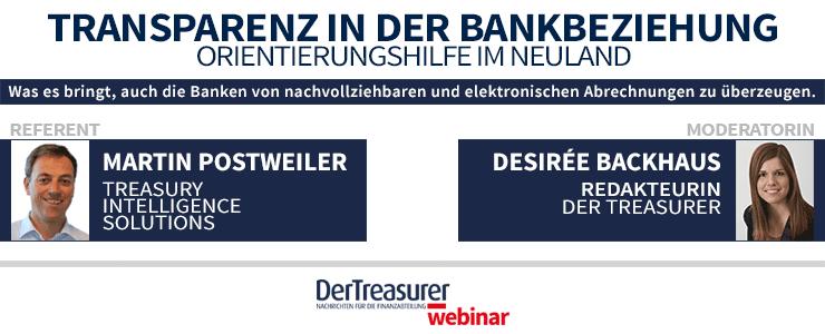 """""""DerTreasurer"""" Webinar Bankbeziehungen"""