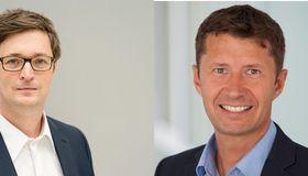 Henning vorm Walde (links) beerbt im Mai Frank Schwab (rechts) als Geschäftsführer von GIZS, dem Service-Dienstleister für Betrieb und Weiterentwicklung des Online-Bezahlverfahrens Paydirekt in der Sparkassen-Finanzgruppe.