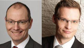 Der Finanznachrichtendienstleister Swift baut seinen Firmenkundenbereich in der DACH-Region mit dem Neuzugang Ralf Klein (links) und dem Rückkehrer Sebastian Niemeyer (rechts) aus.