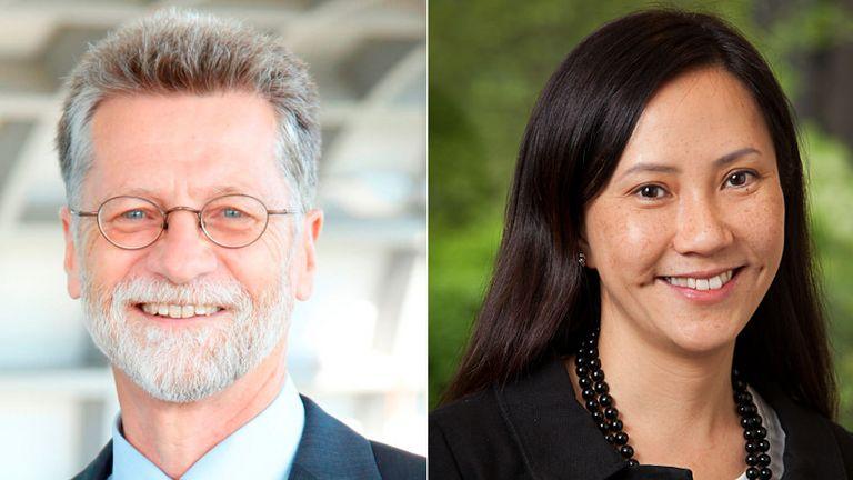 Henrik Hänche übergibt die Leitung des Finanzbereichs der Deutschen Post an Marica Lin.