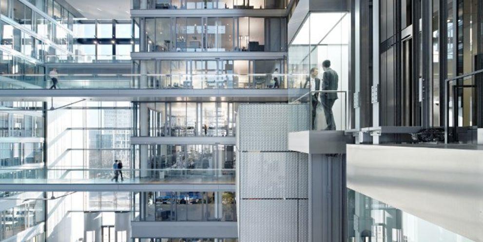 """""""The Cube"""" - die Konzernzentrale der Deutschen Börse: Die Frankfurter treiben ihre Blockchain-Aktivitäten voran."""
