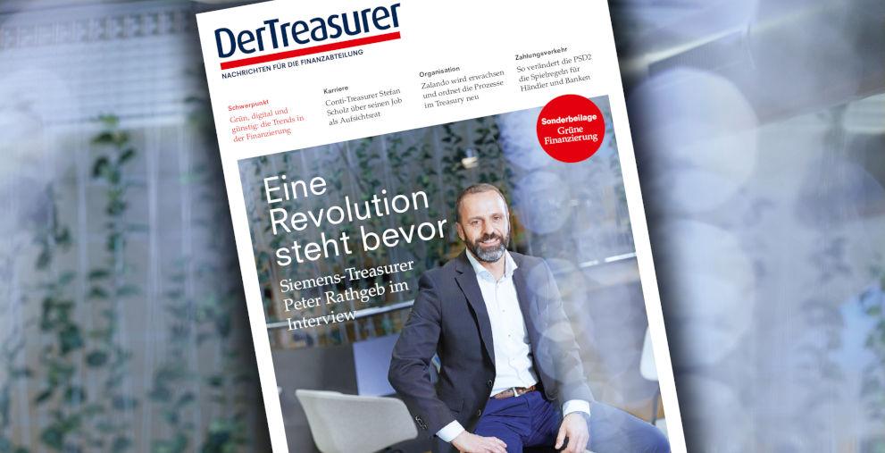 Wie Peter Rathgeb das Siemens-Treasury umbaut, ist in der Titelgeschichte der neuen Printausgabe von DerTreasurer zu lesen.