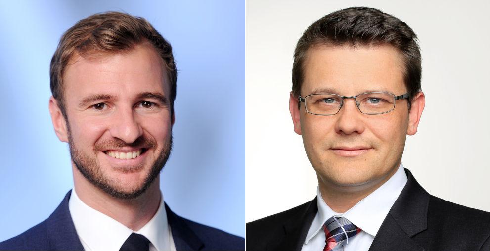Heiko Möhringer (links) übernimmt im Frühjahr die Rolle des Schuldscheinspezialisten bei der BNP Paribas von Raoul Heßling (rechts).