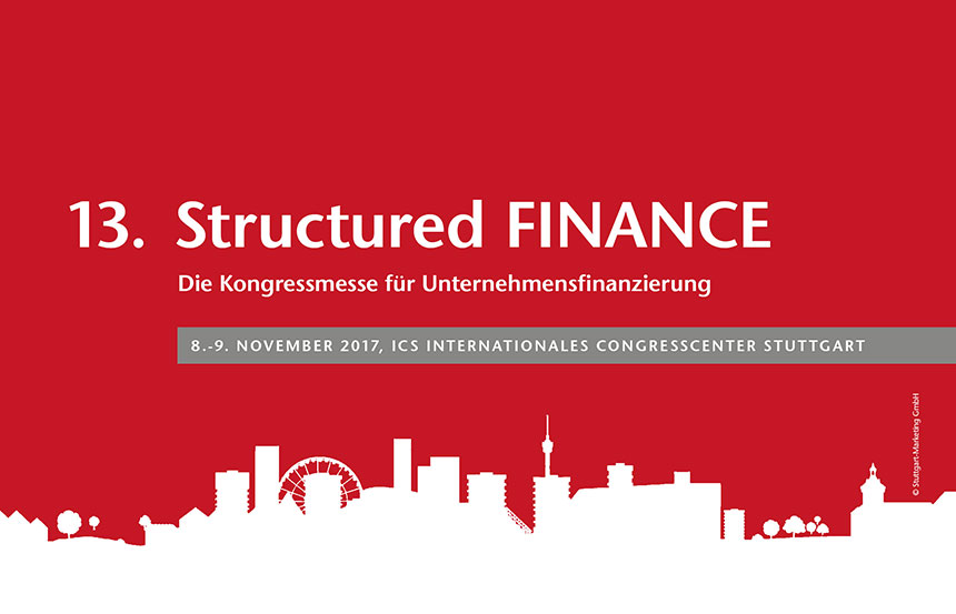 13th Structured FINANCE Keyvisual - Congress and exhibition for modern corporate financing and structured finance products.